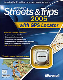 Streets & Trips 2005 - GPS �������� ��� Pocket PC