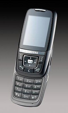 Samsung представляет новый модернистский слайдер SGH-D600