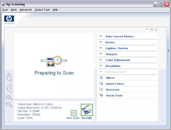 Программу hp photosmart для сканирования