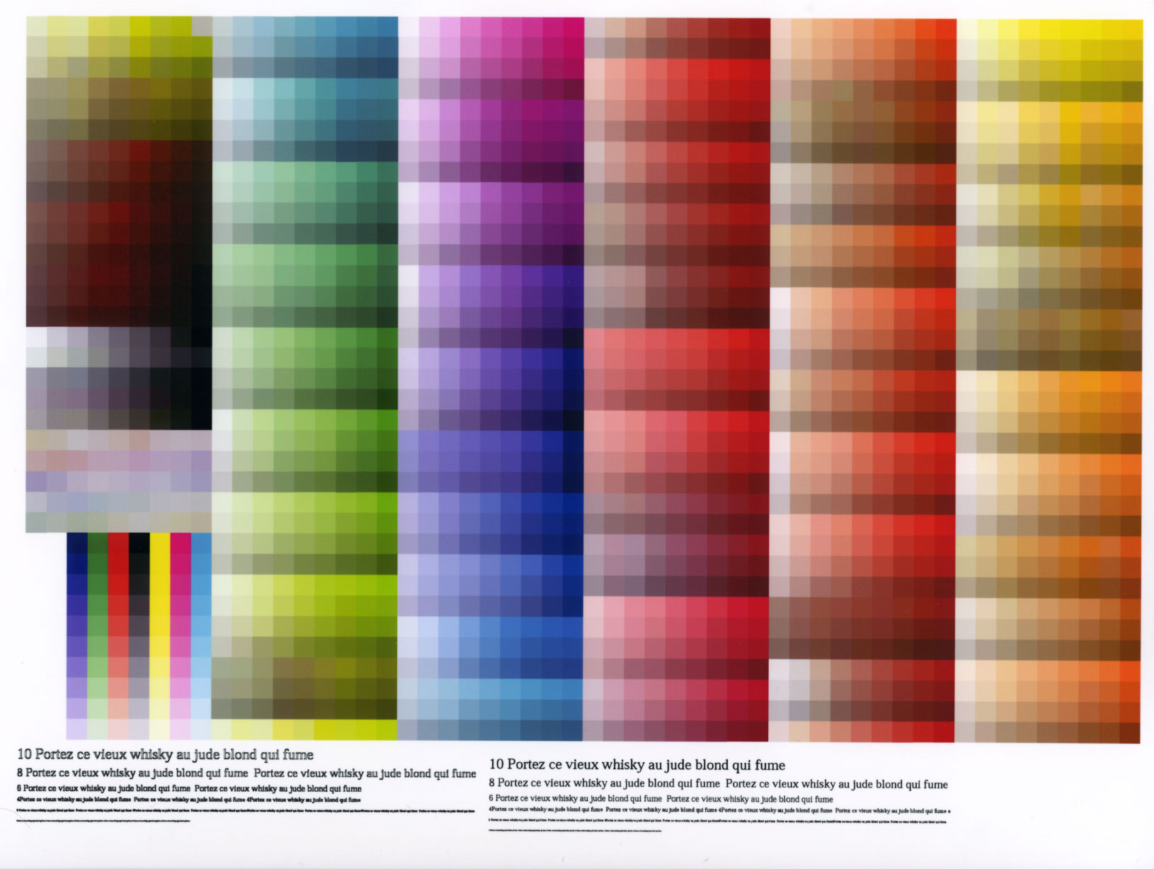 Фото всех цветов для принтера