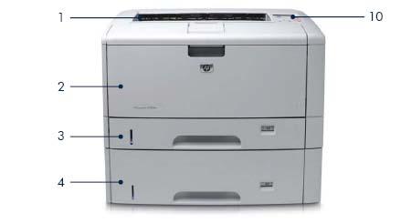 Принтер HP LaserJet 5200dtn: вид спереди