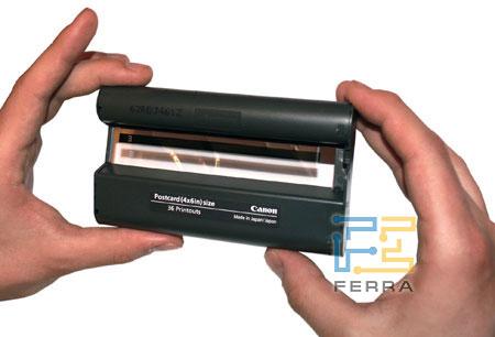 Canon SELPHY CP720: картридж с плёнками для переноса цвета и полимерным защитным слоем