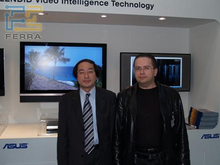 Эрик Чен – директор европейского офиса компании ASUSTeK Computers Inc. и Павел Синяков – главный редактор Ferra.ru