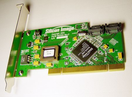 Референс PCI хост-контроллер Serial ATA от Silicon Image.