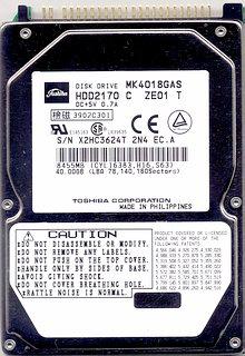 Toshiba MK4018GAS