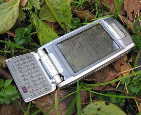Sony Ericsson P910i в раскрытом состоянии