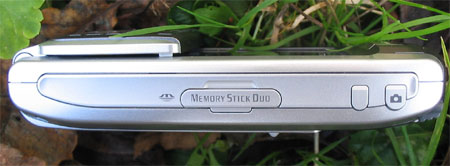Sony Ericsson P910i - правый торец
