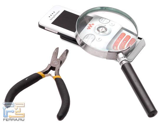 Sony Ericsson W580i в тестлабе Ferra.ru