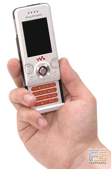 Габариты Sony Ericsson W580i в масштабе 1