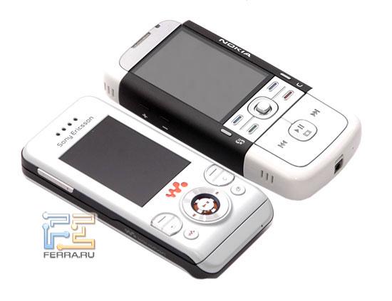 Сравнение Sony Ericsson W580i и Nokia 5700 в тестлабе Ferra.ru 1