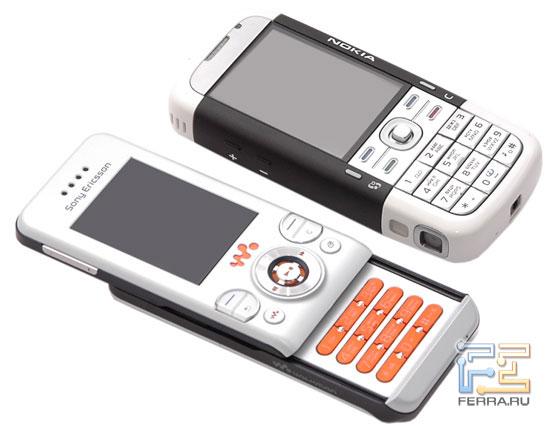 Сравнение Sony Ericsson W580i и Nokia 5700 в тестлабе Ferra.ru 2