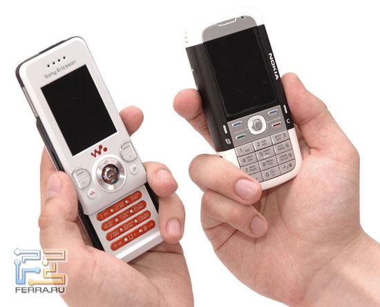 Сравнение Sony Ericsson W580i и Nokia 5700 в тестлабе Ferra.ru 5