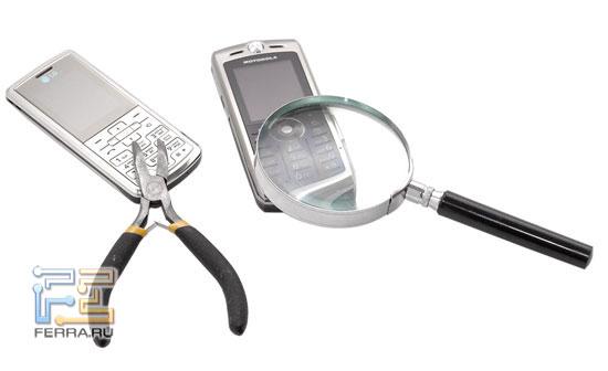 Motorola SLVR L9 и LG KE770 Shine в тестлабе Ferra.ru