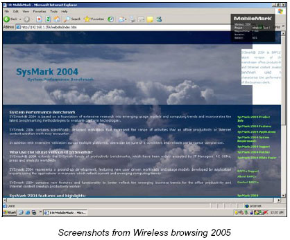 MobileMark 2005 - Wireless browsing