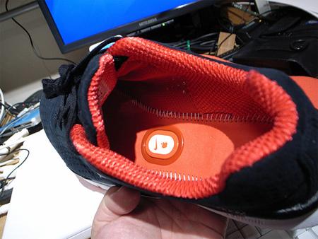 Кроссовок Nike+: вид внутри