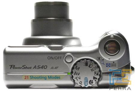 Canon PowerShot A540: вид сверху и вид снизу 1