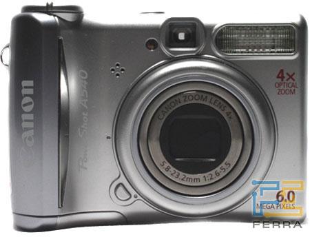 Canon PowerShot A540: аверс, реверс и объектив 1