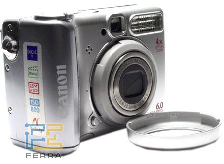 Canon PowerShot A540: аверс, реверс и объектив 2
