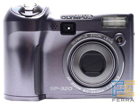 Olympus SP-320: объектив, видоискатель и ЖК-дисплей 1