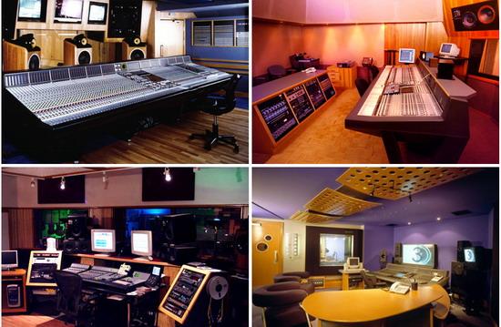 Домашний кинотеатр: контрольные комнаты нескольких известных студий звукозаписи