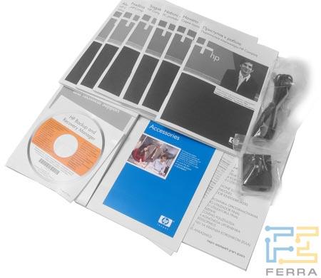 HP Compaq nx7400: комплект поставки