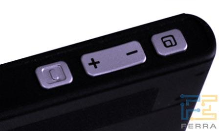 Nokia 770: кнопки на верхнем торце