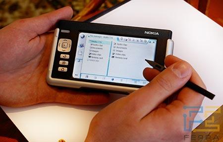 Nokia 770 в работе