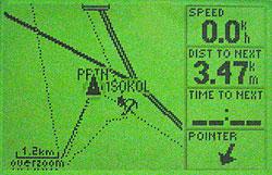 Garmin GPS III Plus - карта