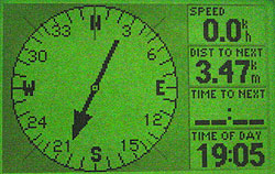 Garmin GPS III Plus - компас