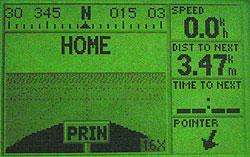 Garmin GPS III Plus - имитатор движения по шоссе