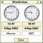 Palm m130 - World time