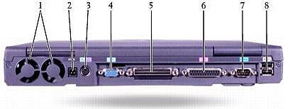 вид сзади ноутбука Dell Latitude C840