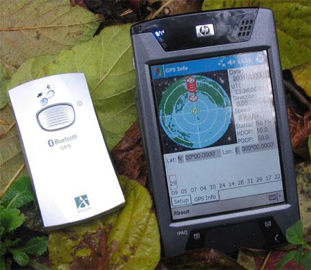 ��� HP iPAQ rx4700 � ��������� Ambicom GPS Bluetooth
