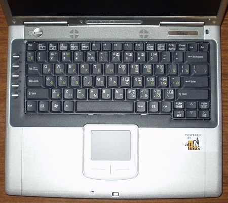 MaxSelect TravelBook M620 - клавиатура