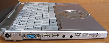 Panasonic CF-W2 - левый торец