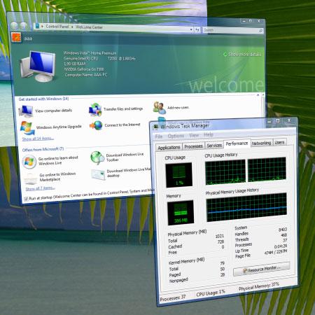 Загруженность процессора в Windows Vista
