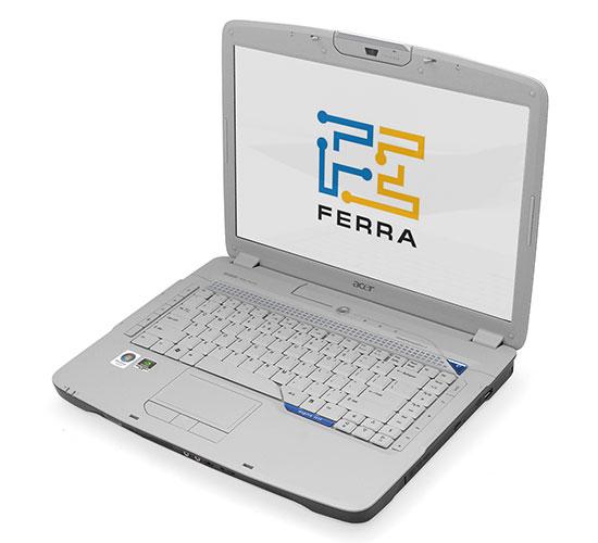 Acer Aspire 5920: дизайн внутренней части контрастирует с оформлением крышки