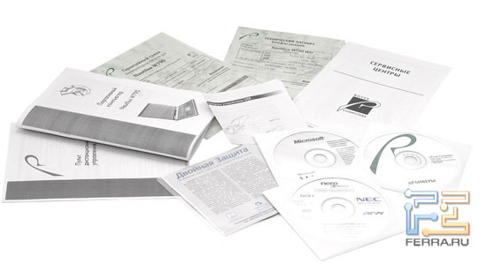 RoverBook Nautilus W790: комплект документации и программного обеспечения