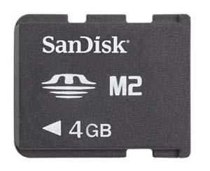 SanDisk 4GB Memory Stick Micro (M2) Card