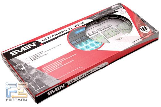 Клавиатура SVEN Multimedia EL 7010 – вид в упаковке