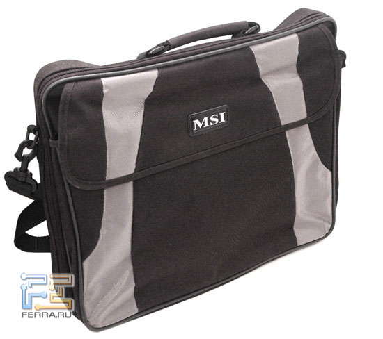 MSI M677: сумка для транспортировки ноутбука