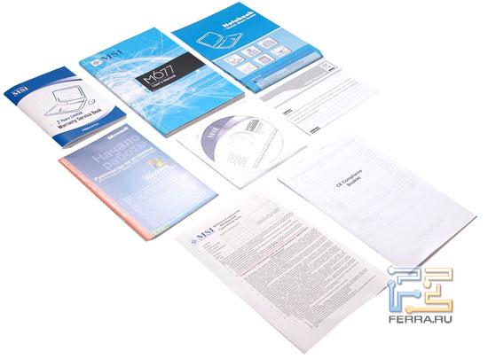 MSI M677: набор документации и диск восстановления