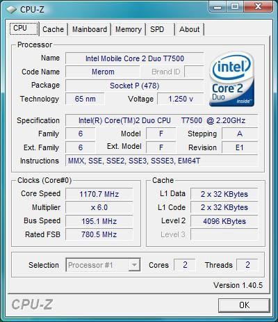 ASUS G2S: процессор
