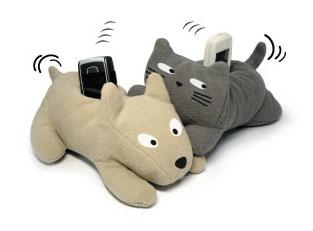 Подставки для мобильного Собачка и кот.