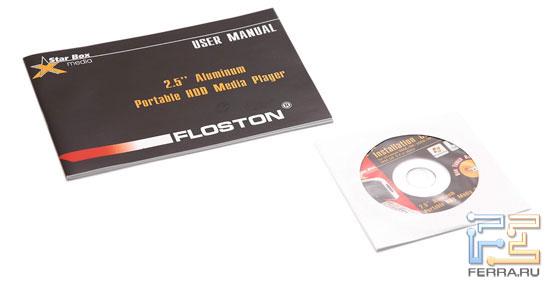 Floston Star Box Media: мануал, диск с необходимыми программами