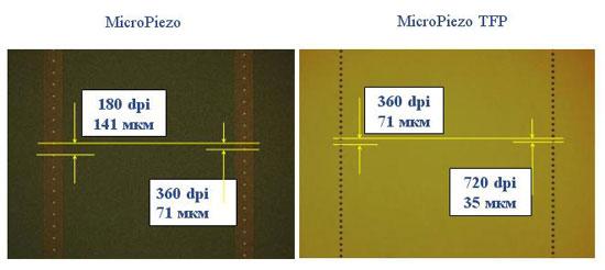 Новое поколение печатающей головки Micro Piezo Thin Film Piezo