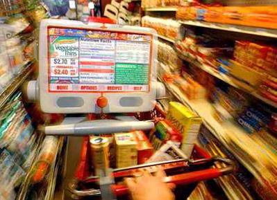High Tech Grocery Cart