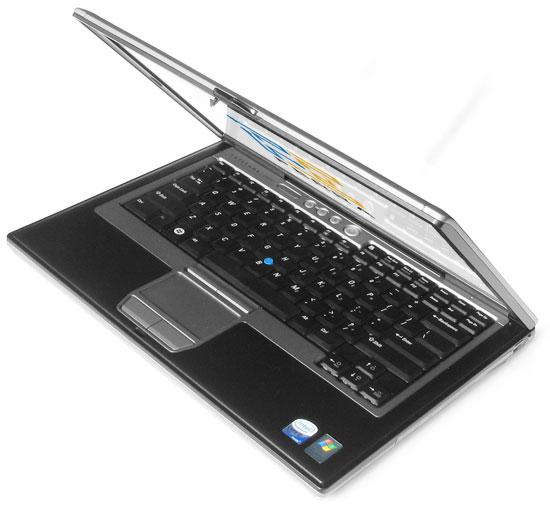 Dell Latitude D630: внешний вид в приоткрытом состоянии