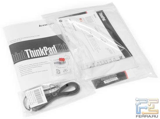 Lenovo ThinkPad T61: комплект поставки