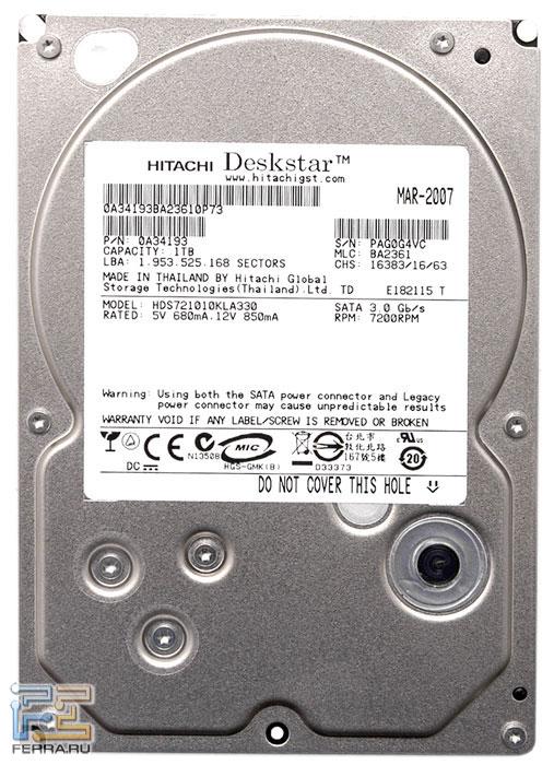 Hitachi DeskStar 7K1000 HDS721010KLA330